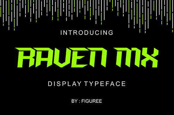 Print on Demand: Raven Mx Display Font By figuree studio
