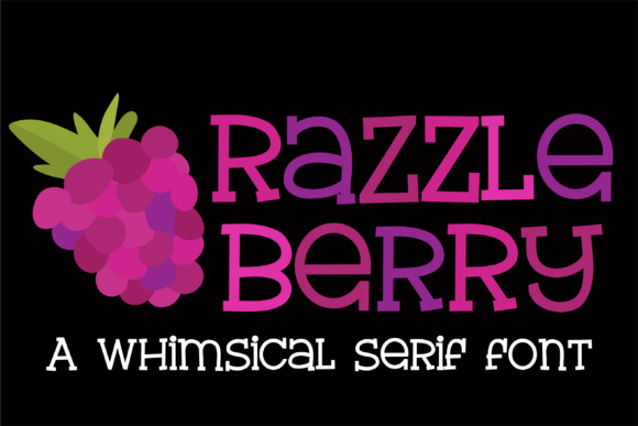 Print on Demand: Razzle Berry Serif Font By Illustration Ink - Image 1