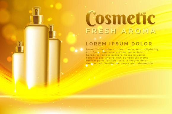Realistic Template Cosmetic Package Background Graphic By ojosujono96