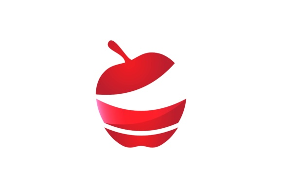 Download Free Red Apple Logo Design Graphic By Yahyaanasatokillah Creative for Cricut Explore, Silhouette and other cutting machines.