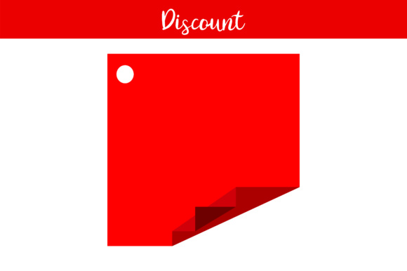 Print on Demand: Red Label Discount Blank Graphic Illustrations By Arief Sapta Adjie