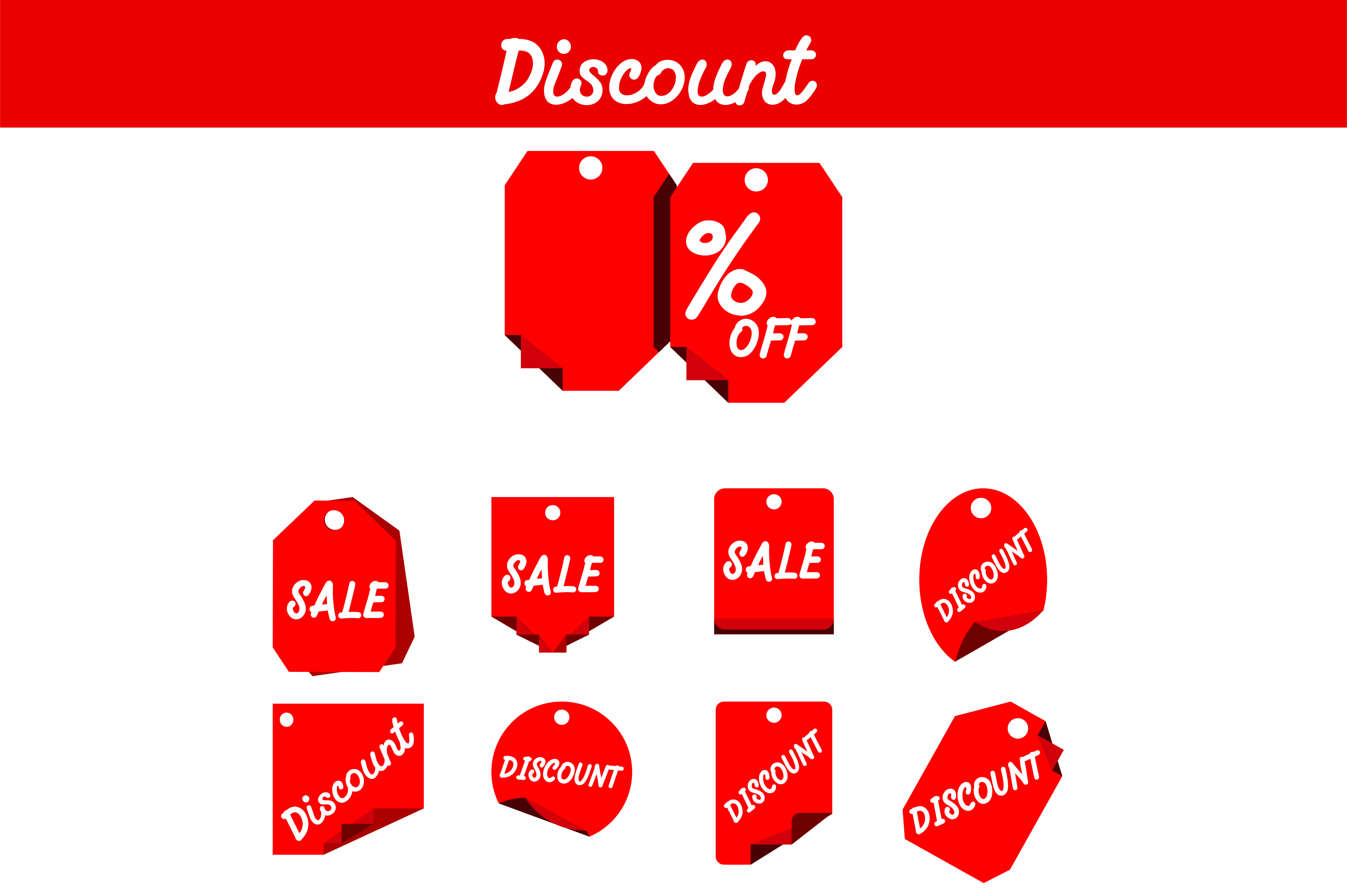 Download Free Red Label Discount Bundle Graphic By Arief Sapta Adjie for Cricut Explore, Silhouette and other cutting machines.