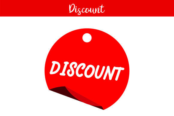 Print on Demand: Red Label Discount Graphic Illustrations By Arief Sapta Adjie - Image 1