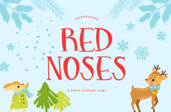 Print on Demand: Red Noses Serif Font By Christine Teixeira