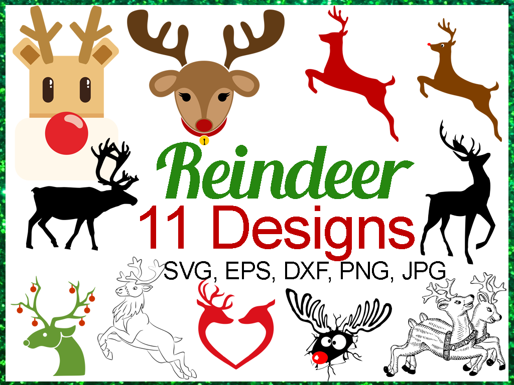 Download Free Reindeer Bundle Graphic By Quiet Deluxe Digital Creative Fabrica for Cricut Explore, Silhouette and other cutting machines.
