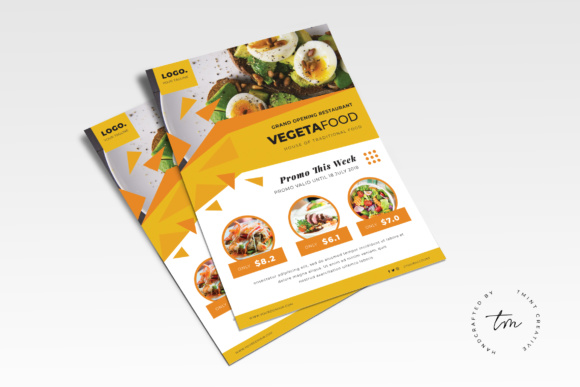 Restaurant Flyer Graphic Print Templates By TMint
