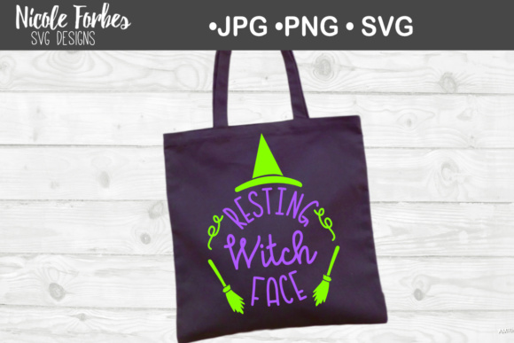Download Free Resting Witch Face Svg Graphic By Nicole Forbes Designs for Cricut Explore, Silhouette and other cutting machines.