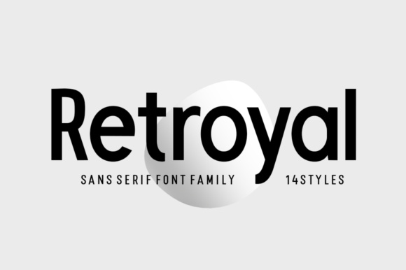 Print on Demand: Retroyal Family Sans Serif Font By Megatype