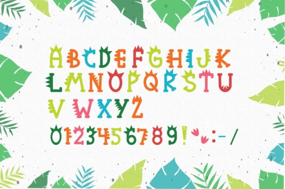 Print on Demand: Roarr! Dino Party Serif Font By Cute files - Image 2
