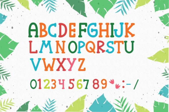 Print on Demand: Roarr! Dino Party Serif Font By Cute files - Image 3