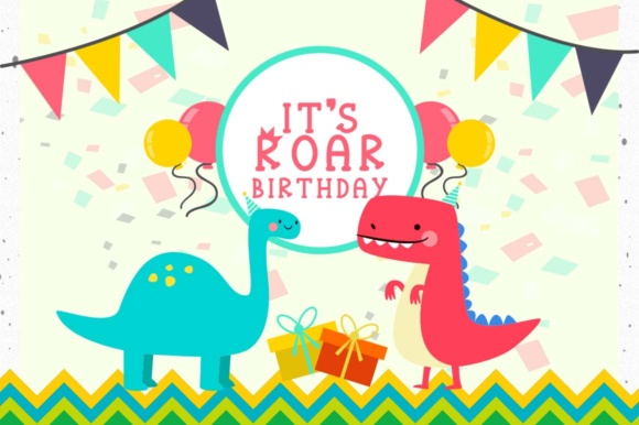Print on Demand: Roarr! Dino Party Serif Font By Cute files - Image 4