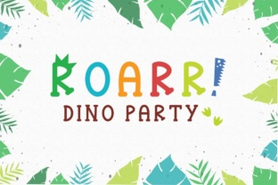 Roarr! Dino Party Font By Cute files