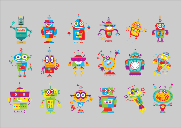 Robot so Cute Graphic Product Mockups By huycdt4