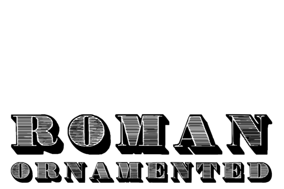 Print on Demand: Roman Ornamented Display Font By Intellecta Design