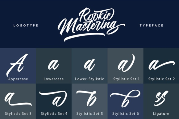 Print on Demand: Rookie Mastering Script & Handwritten Font By Mercurial - Image 5