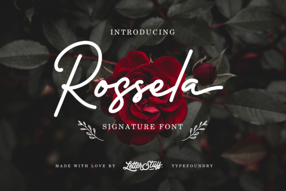 Print on Demand: Rossela Script & Handwritten Font By herbanuts