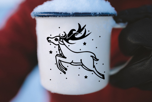 Rudolf Reindeer for Christmas Graphic By Illustrator Guru Image 4