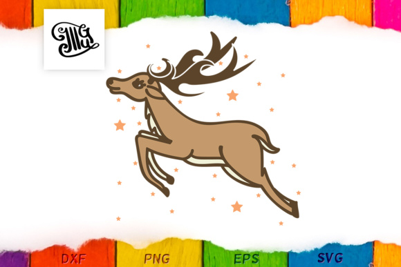 Rudolf Reindeer for Christmas Graphic By Illustrator Guru Image 1