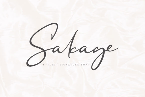 Print on Demand: Sakage Script & Handwritten Font By Aqr Typeface