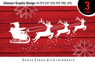 Santa Claus and Reindeer Graphic By Gleenart Graphic Design