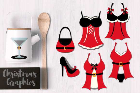 Print on Demand: Santa Lingerie Graphic Illustrations By Revidevi