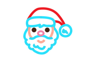 Santa Face Smiling Outline Design Sewing Cards Craft Cut File By Creative Fabrica Crafts