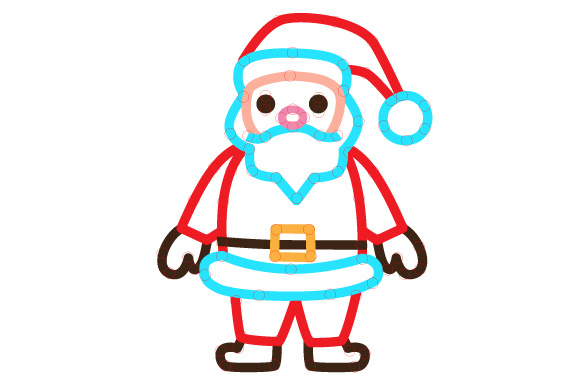 Santa Outline Design Svg Cut File By Creative Fabrica Crafts