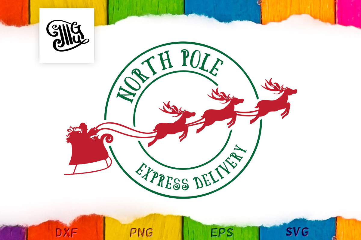 Download Free Santa S Delivery Stamp Graphic By Illustrator Guru Creative Fabrica for Cricut Explore, Silhouette and other cutting machines.