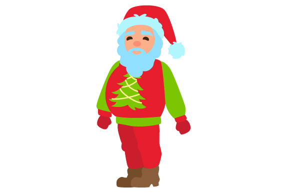 Download Free Santa With Ugly Christmas Sweater Svg Cut File By Creative for Cricut Explore, Silhouette and other cutting machines.