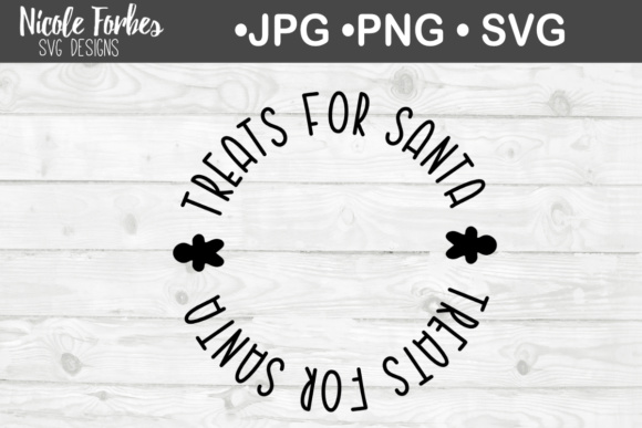 Download Free Santa S Cookie Plate Svg Graphic By Nicole Forbes Designs for Cricut Explore, Silhouette and other cutting machines.