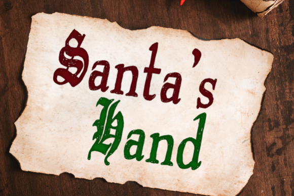 Print on Demand: Santa's Hand Script & Handwritten Font By Inspire Graphics