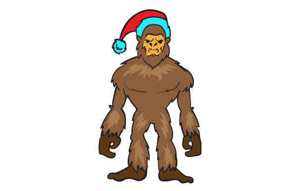 Download Free Sasquatch Wearing A Santa Hat Svg Cut File By Creative Fabrica Crafts Creative Fabrica for Cricut Explore, Silhouette and other cutting machines.