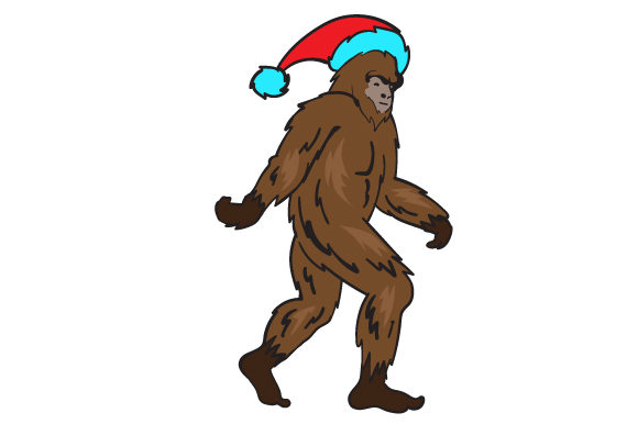 Download Free Sasquatch Wearing A Santa Hat Svg Cut File By Creative Fabrica for Cricut Explore, Silhouette and other cutting machines.