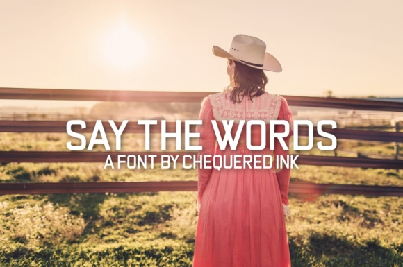 Print on Demand: Say the Words Sans Serif Font By Chequered Ink