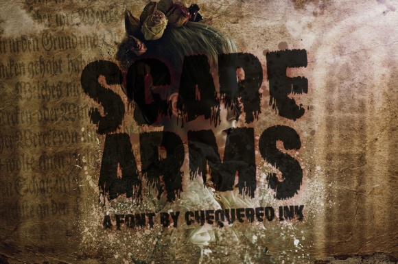 Print on Demand: Scare Arms Display Font By Chequered Ink