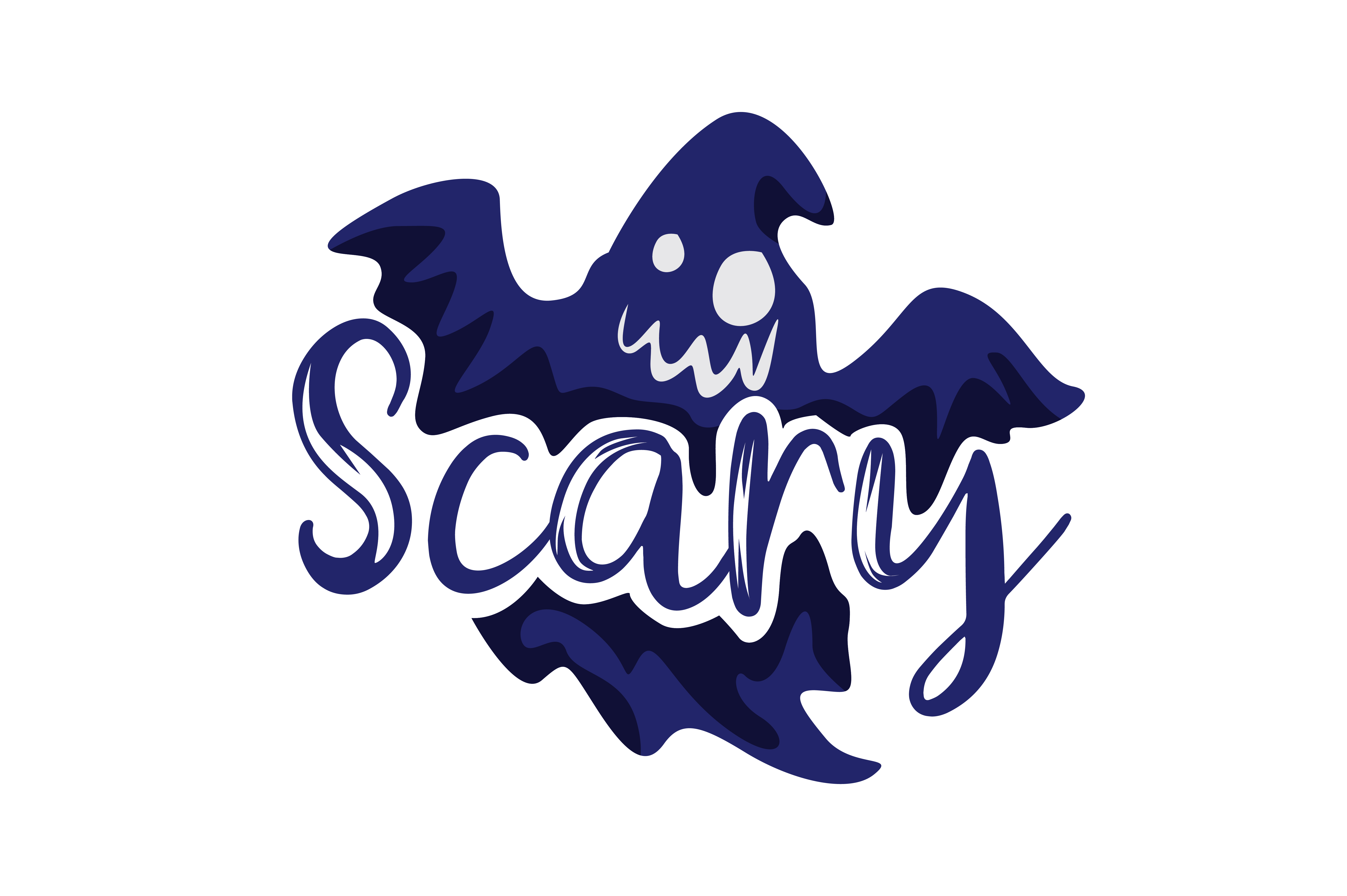 Download Free Scary Graphic By Thelucky Creative Fabrica for Cricut Explore, Silhouette and other cutting machines.