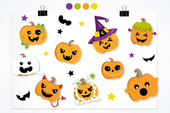 Download Free Scary Pumpkins Graphics And Illustrations Graphic By for Cricut Explore, Silhouette and other cutting machines.
