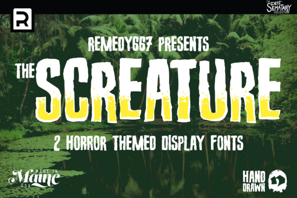 Print on Demand: Screature Display Font By remedy667