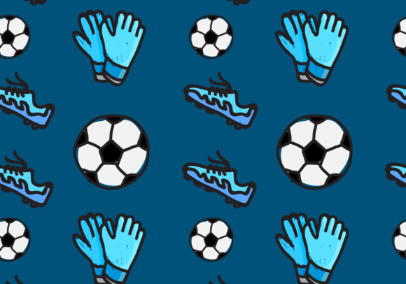 Print on Demand: Seamless Pattern of Soccer Sport Graphic Patterns By sabavector