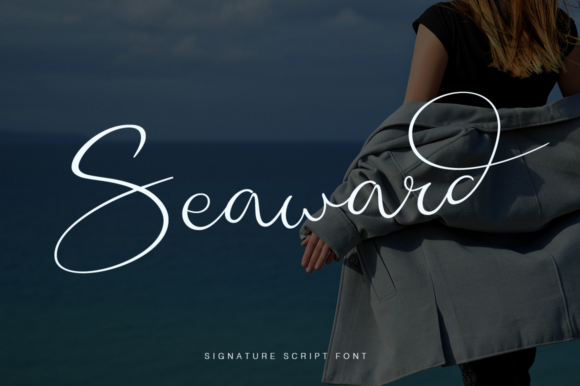 Print on Demand: Seaward Script & Handwritten Font By Pasha Larin