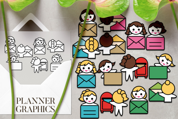 Download Free Send Mail Envelope And Mailbox Graphic By Darrakadisha for Cricut Explore, Silhouette and other cutting machines.