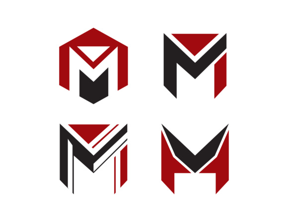Download Free Set Of Initial Letter M Logos Grafico Por Meisuseno Creative for Cricut Explore, Silhouette and other cutting machines.