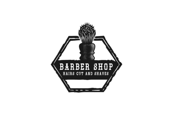 Download Free Shaving Brush Hand Drawn Barber Shop Logo Grafico Por for Cricut Explore, Silhouette and other cutting machines.