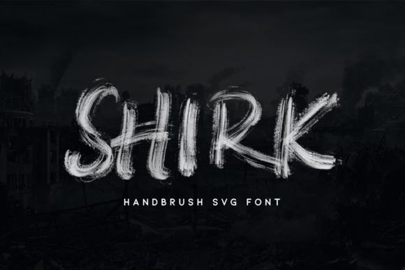 Print on Demand: Shirk Color Fonts Font By MLKWSN studio