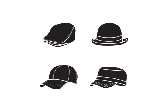 Print on Demand: Silhouette Hat Vector, Simple Cap Icon Design Graphic Graphic Templates By sabavector