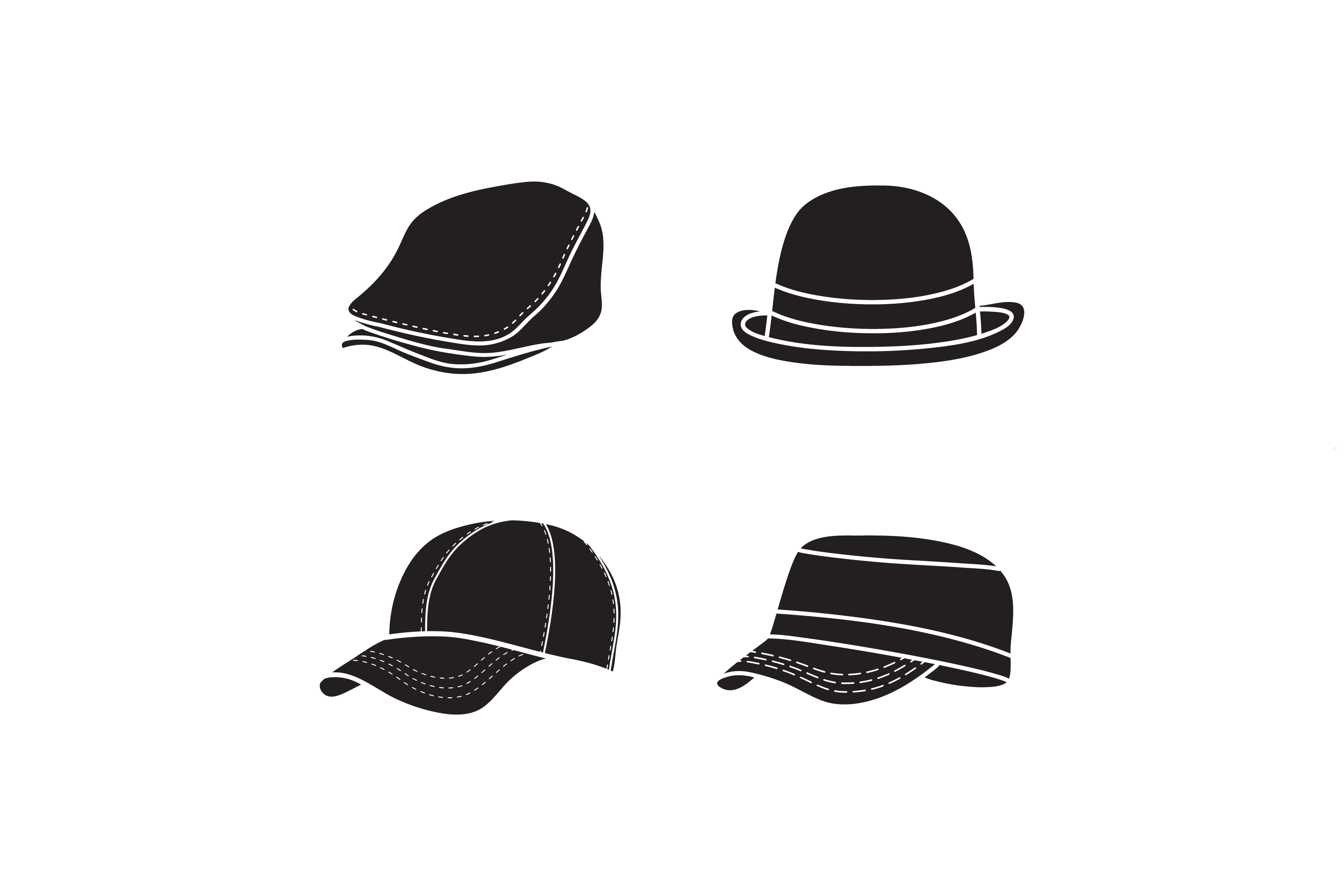 Download Free Silhouette Hat Vector Simple Cap Icon Design Graphic By for Cricut Explore, Silhouette and other cutting machines.