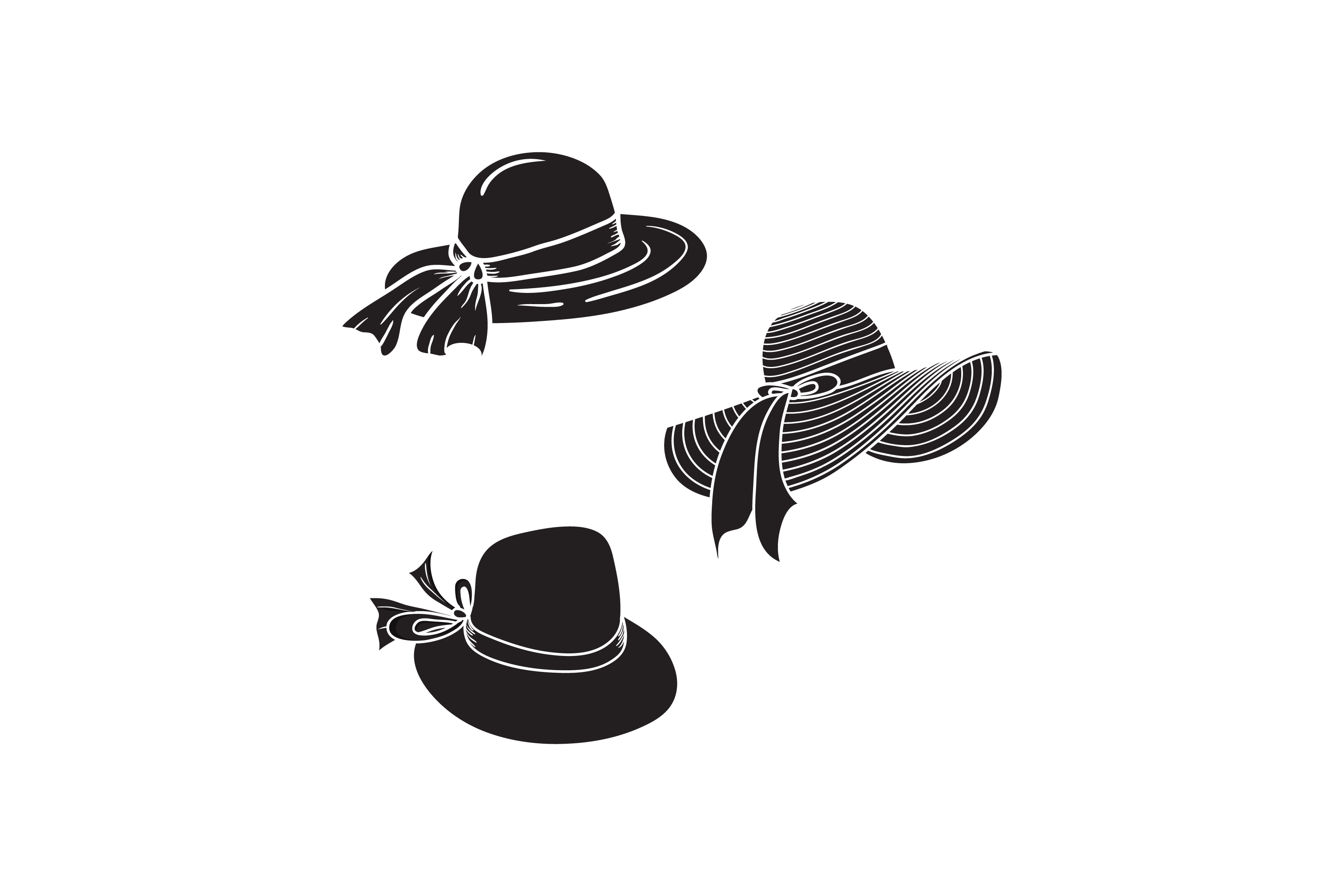 Download Free Silhouette Summer Hat Graphic By Sabavector Creative Fabrica for Cricut Explore, Silhouette and other cutting machines.