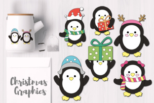 Simple Christmas Penguins Graphics Graphic By Revidevi