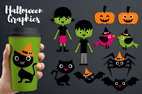 Print on Demand: Simple Halloween Graphics Graphic Illustrations By Revidevi