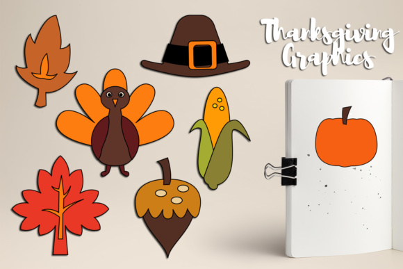 Print on Demand: Simple Thanksgiving Graphics Graphic Illustrations By Revidevi